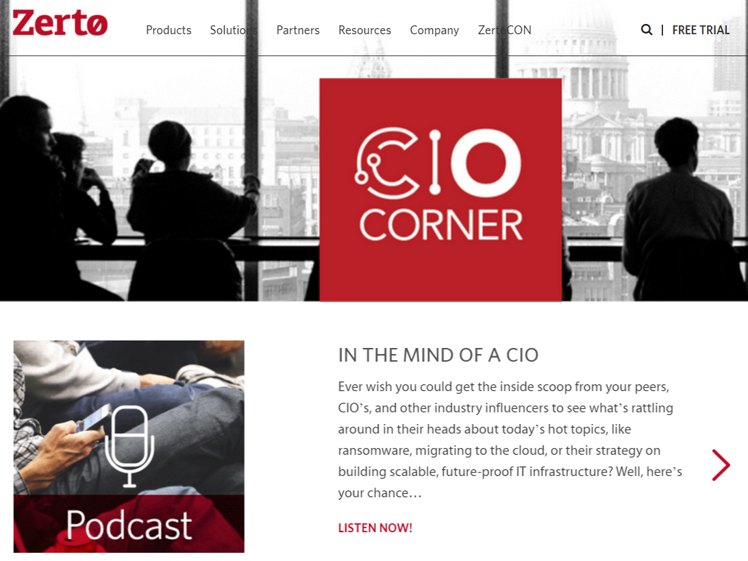 CIO corner screenshot